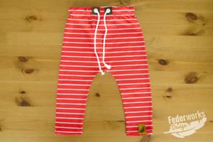 Jersey Hose mit Streifen rot