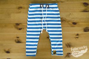 Jersey Hose mit Streifen blau