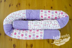 Bettschlange pink / violett
