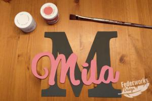 Türschild Mila