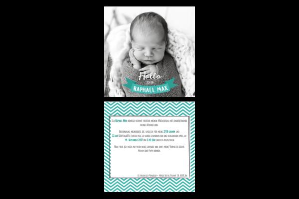 Geburtsanzeige Raphael