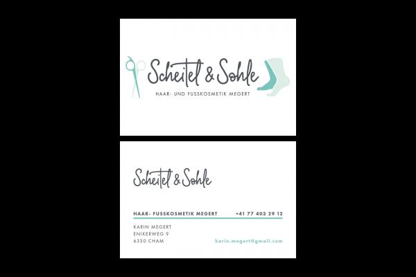 Visitenkarten für Scheitel & Sohle